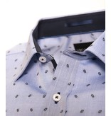 Venti Body Fit Shirt - Blue and Dots
