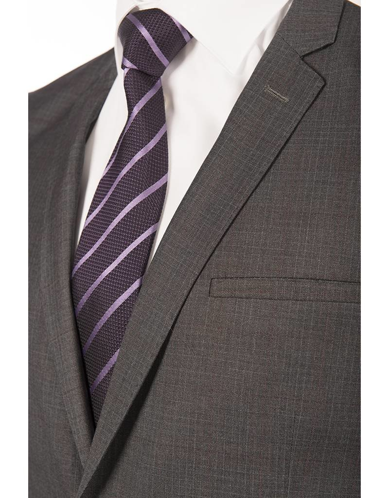 Delahaye London Collection Grey Check Slim Suit  (3686-29)