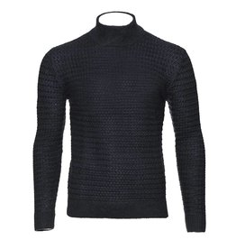 Matinique Navy Mock Neck Sweater by Matinique