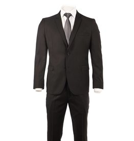 Delahaye London Collection Slim Suit in Black Rio Cut