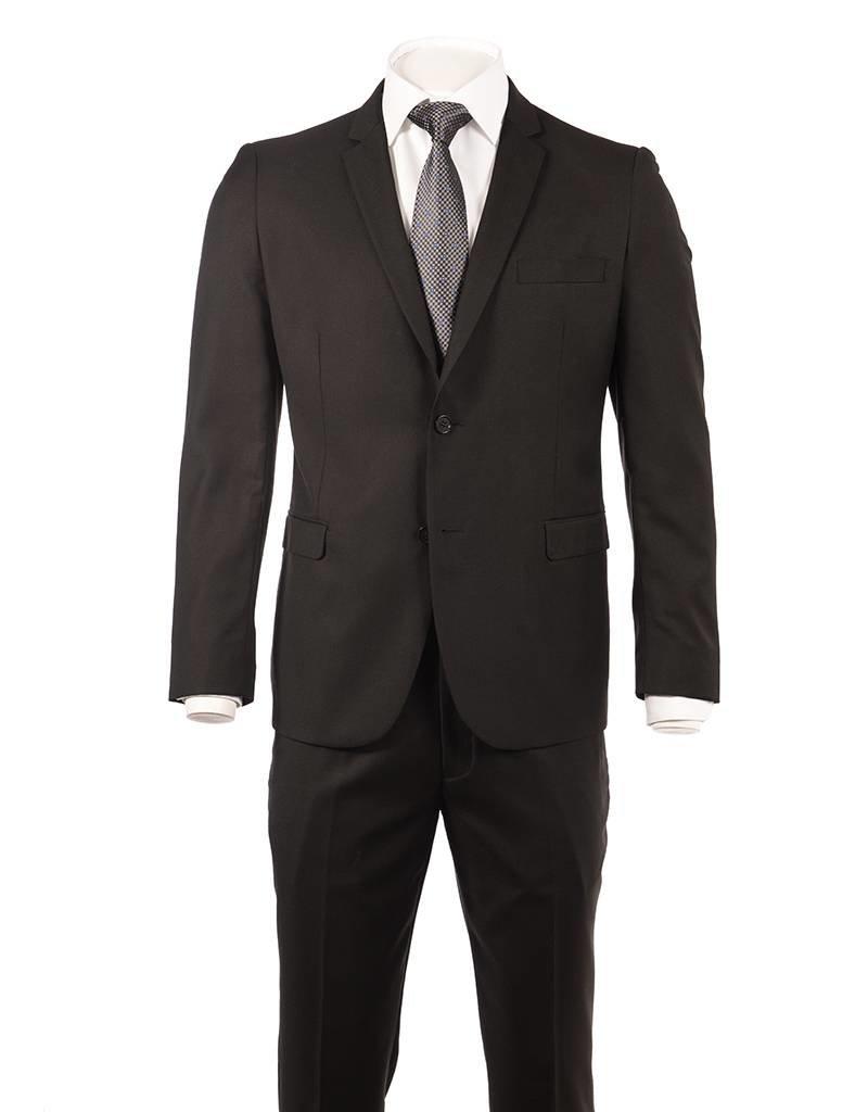 Delahaye London Collection Slim Suit in Black Rio Cut