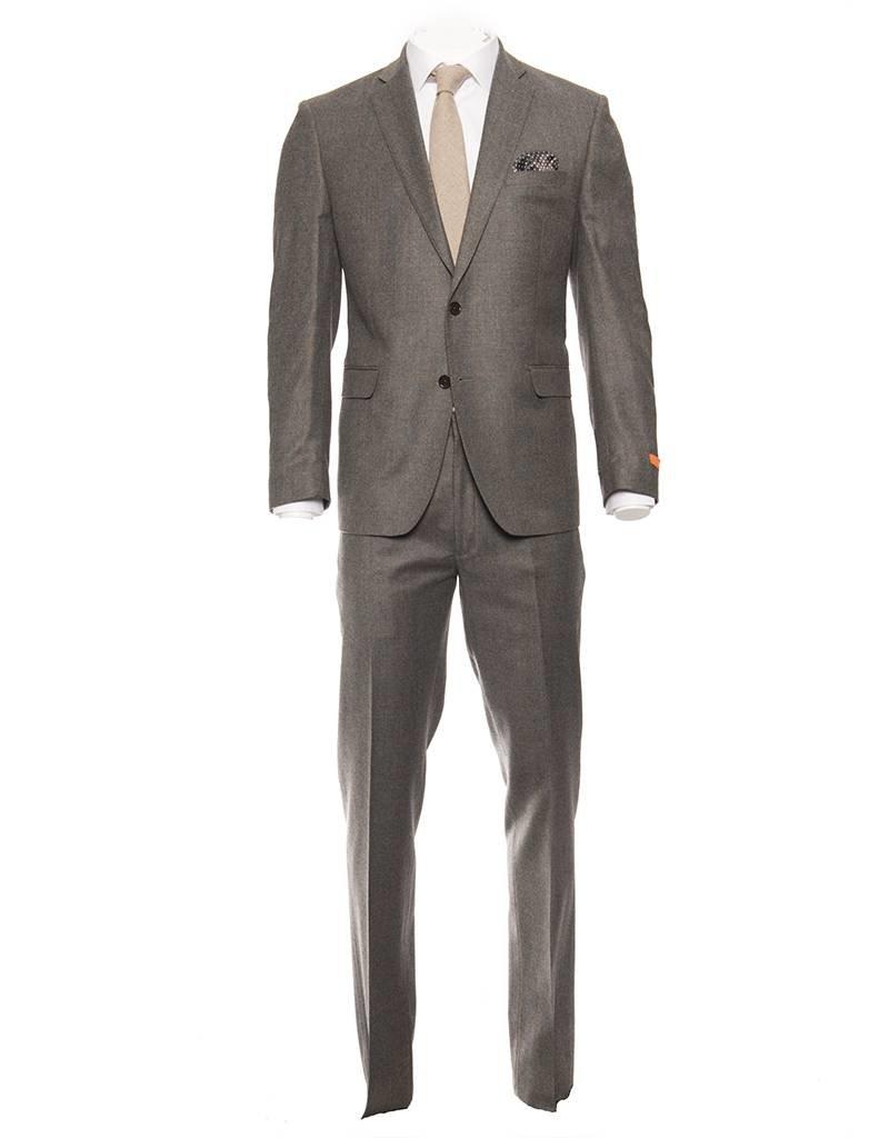 Tallia Tallia Varga Grey and Beige Window Pane Flannel Suit (SFX0093)