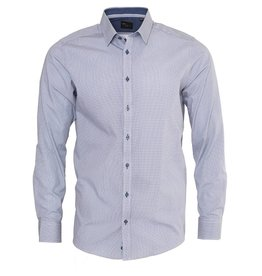 Venti Venti Blue Micro-dot Slim Shirt (172659800)