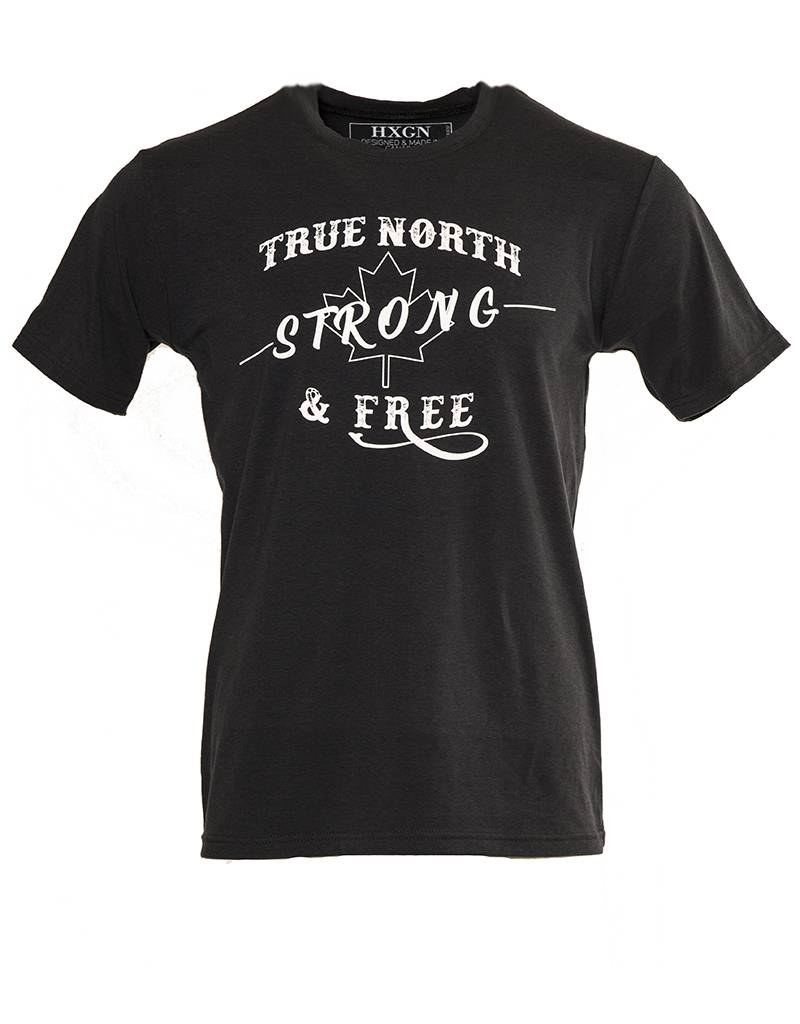 HXGN HXGN - True North Strong & Free - Bamboo Stretch Slim Fit T-Shirt