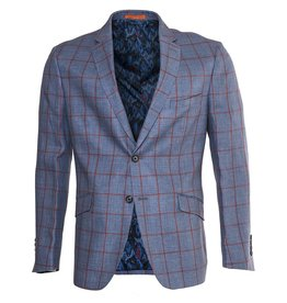 Tallia Tallia Blue Sport Jacket with Red Window Pane (TKX0238)
