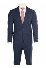 Tallia Tallia Modern Blue Window Pane Suit (SJX0778)