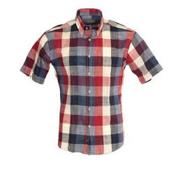Seven Seas Seven Seas Short Sleeve  Red Check Shirt (8397)