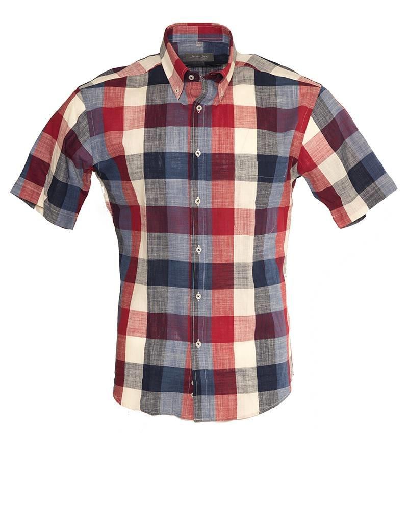 Seven Seas Seven Seas Short Sleeve  Red Check Shirt (8397)