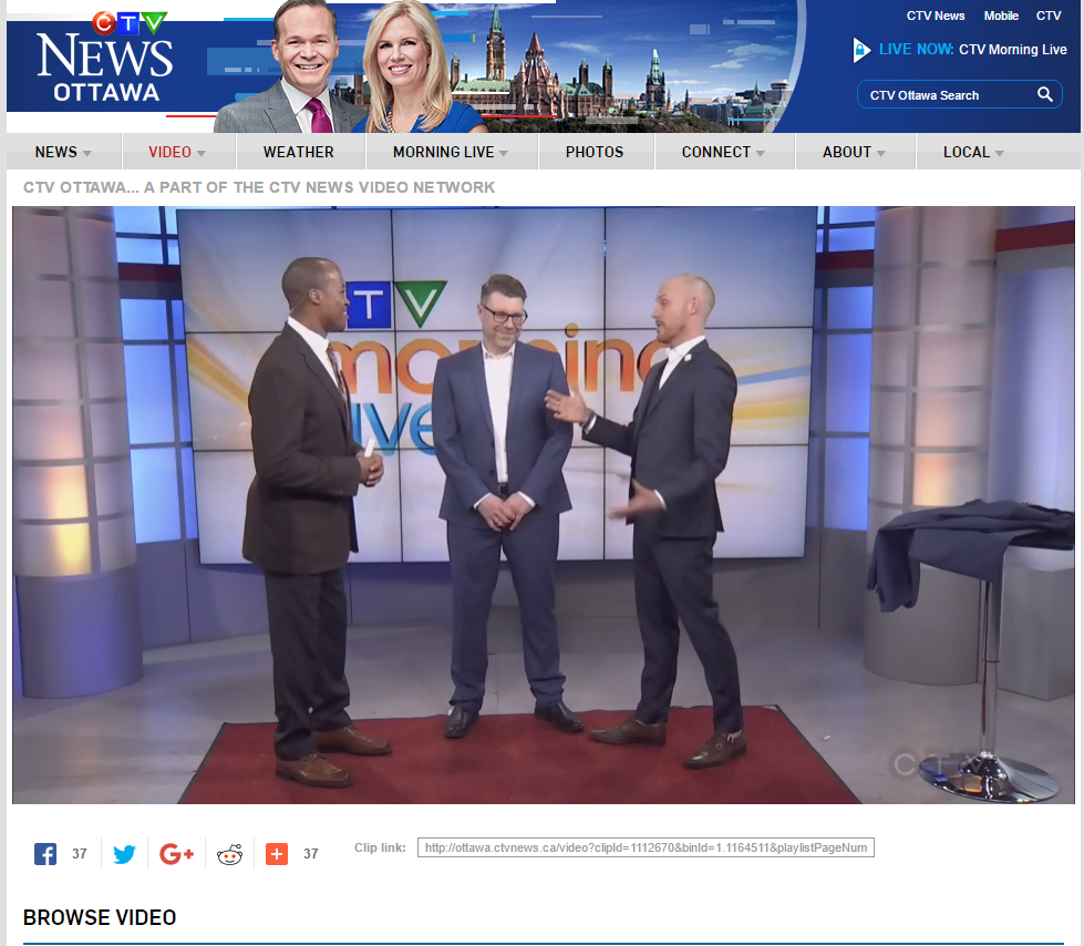 Link to CTV Morning Live Tailoring with L'HEXAGONE Video