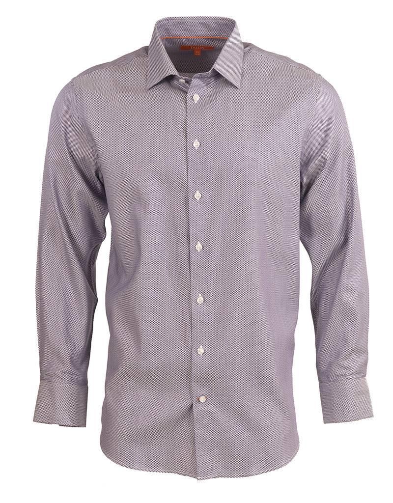 Tallia Tallia Casual Shirt in Purple Micro-Check (T7500)