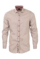Venti Venti Grey & Burgundy Check Shirt (172809300)