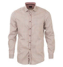 Venti Venti Grey & Burgundy Check Shirt