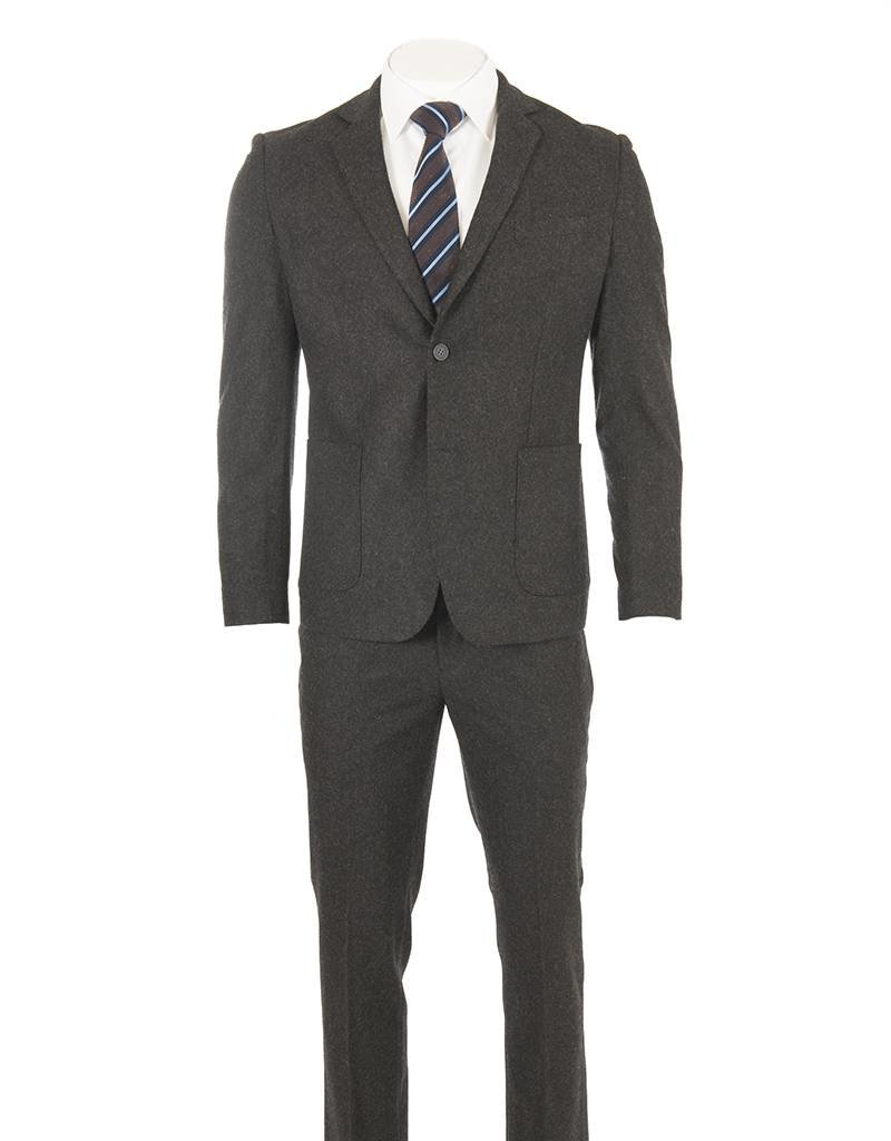 Delahaye London Collection Delahaye - Heavy Wool Charcoal Slim Suit (Hugo - 0922-7110)