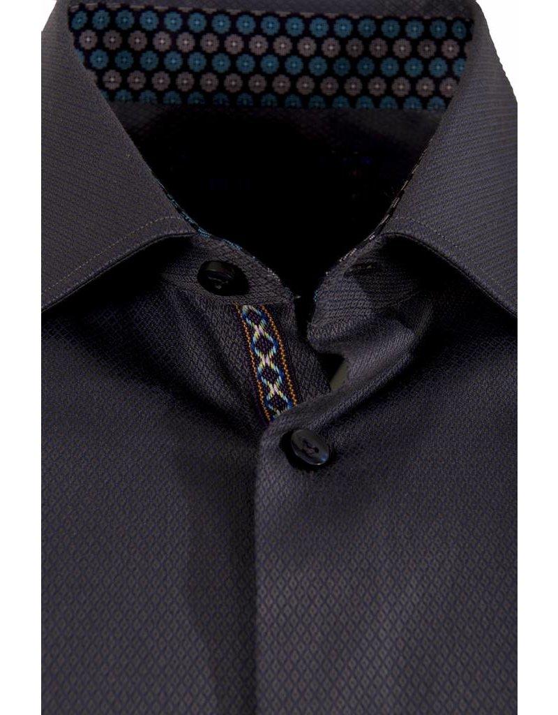 Polifroni BLU BLU by Polifroni - Dark Purple Fitted Shirt (B1749069)