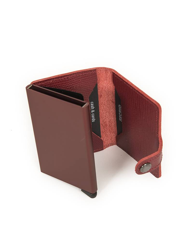 Secrid Secrid Leather Wallet in Bordeaux - M -