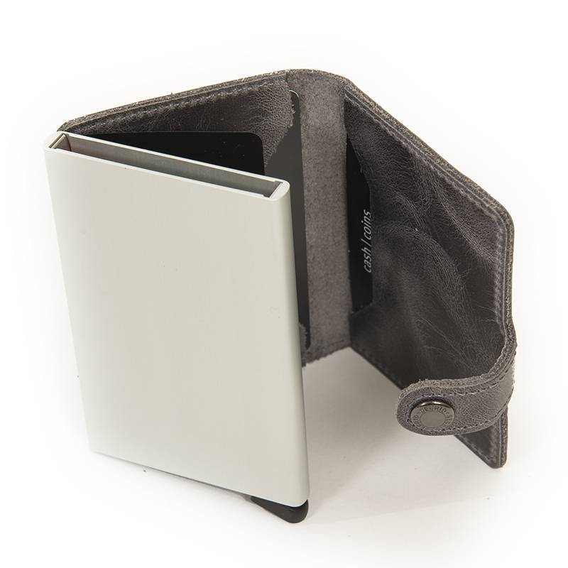 Secrid Secrid Leather Wallet - Vintage Grey - M -
