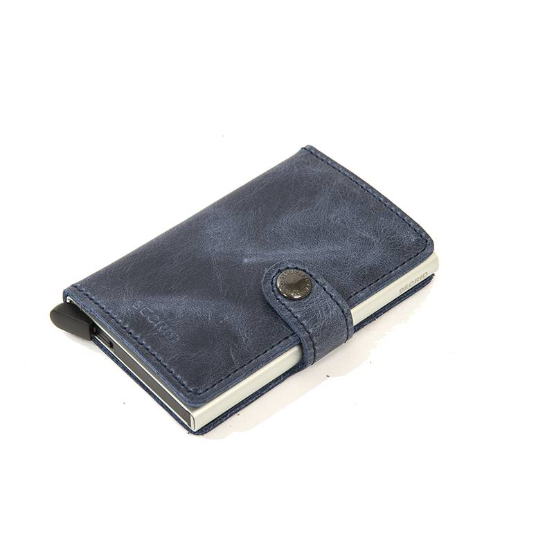 Secrid Secrid Leather Wallet - Vintage Blue - M -