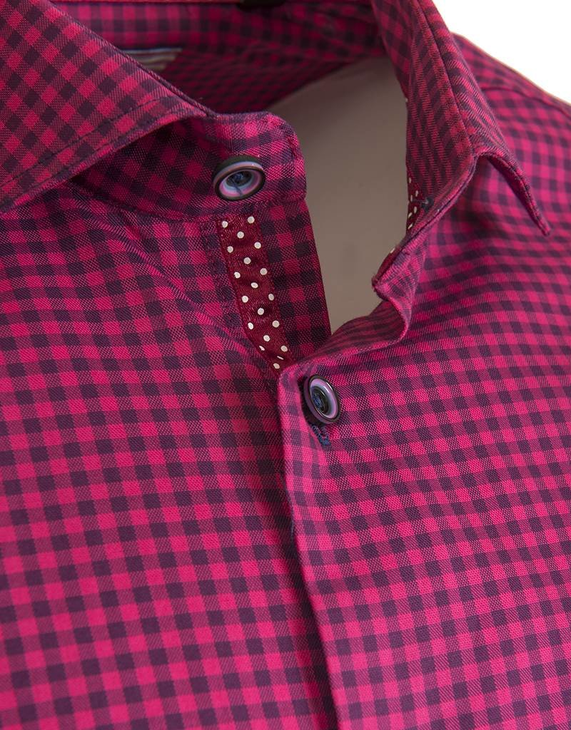 Elite by Serica Elite by Serica - Pink Check Fitted Shirt (175963)