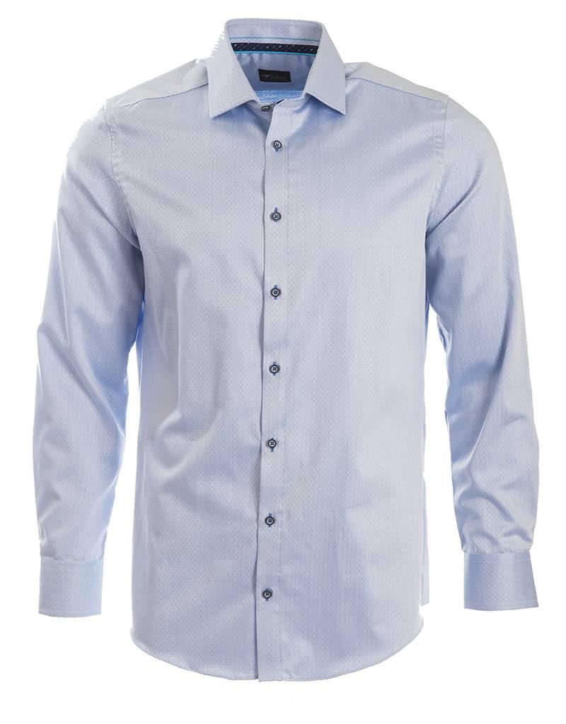 Venti Venti - Blue Micro-Pattern Shirt - 182911400