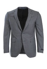 Paul Betenly Paul Betenly - Navy Micro-Check Sport Jacket - C2RD71027