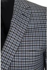 Paul Betenly Paul Betenly - Navy Micro-Check Sport Jacket - C2RD71027