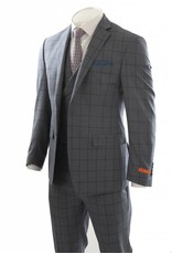 Tallia Tallia - Window Pane 3 PCS Suit - SJX0881