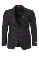 Tallia Tallia - Burgundy & Grey Sport Jacket - T1W0028 - VENZA