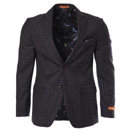 Tallia Tallia - Burgundy & Grey Sport Jacket