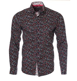 IZAC & ADAM IZAC & ADAM - Navy Flowers Shirt