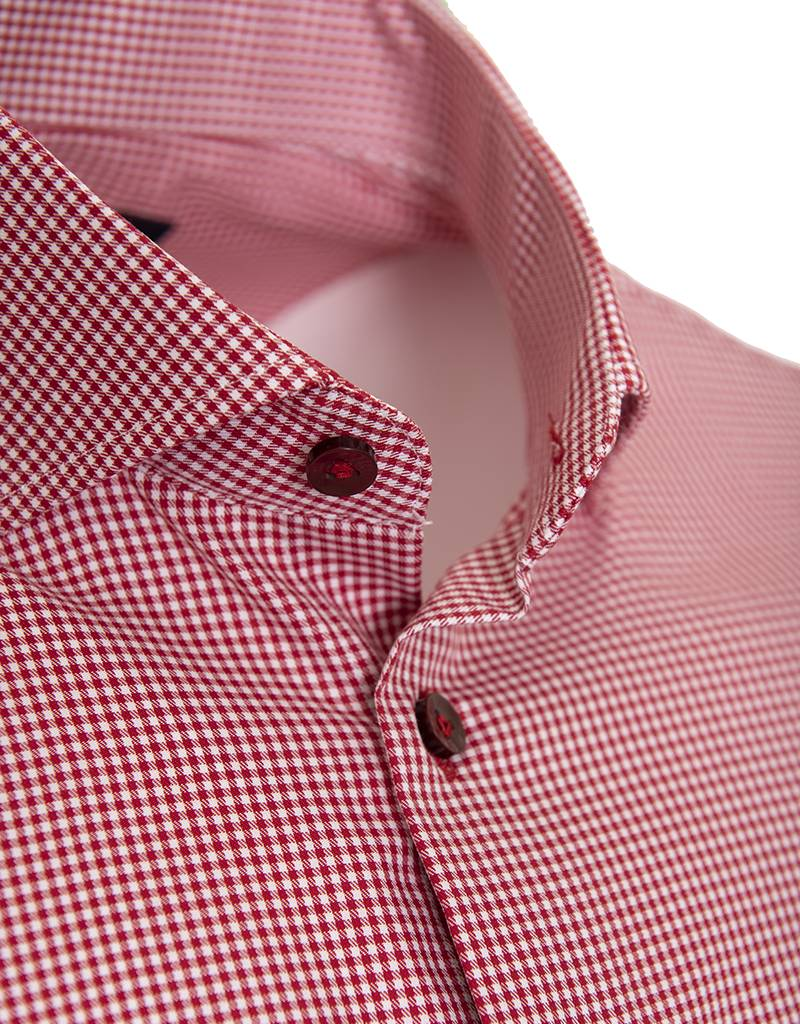 Polifroni BLU BLU by Polifroni - Red Micro-Check Shirt - G1847223