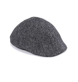 Crown Cap - Herringbone Paperboy Hat