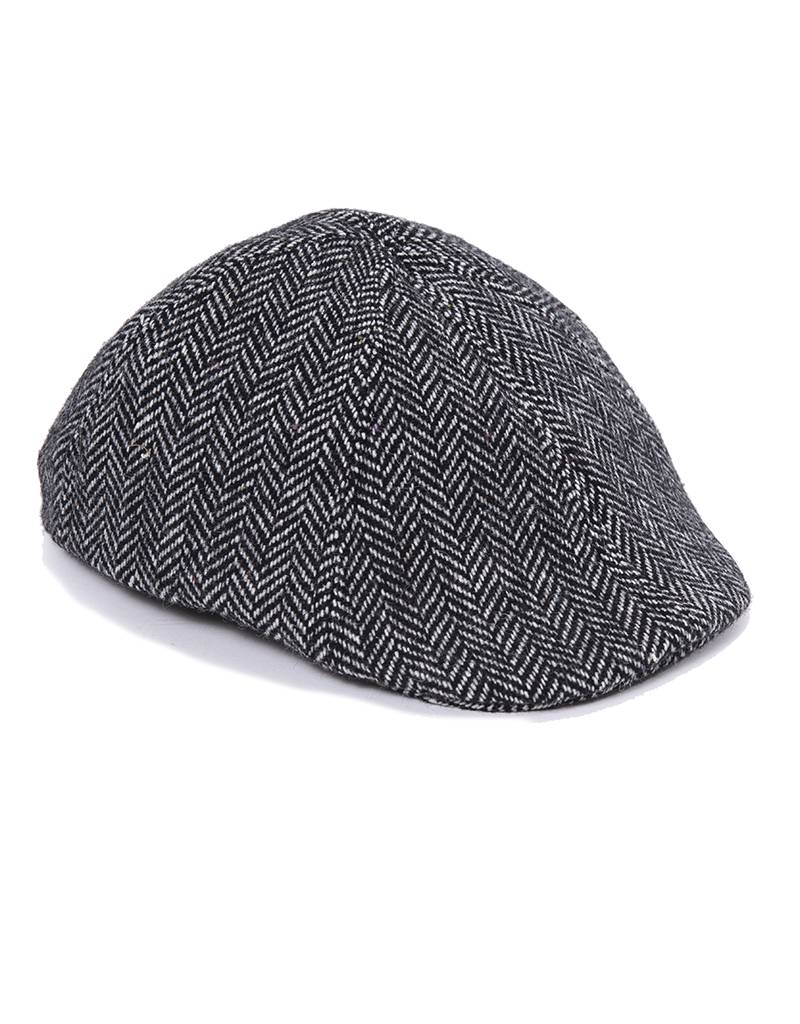 Crown Cap - Herringbone Paperboy Hat - 1-46690