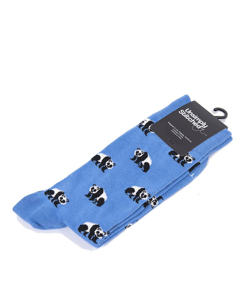 Unsimply Stitched Unsimply Stiched Socks - Pandas - UNST-8137-4