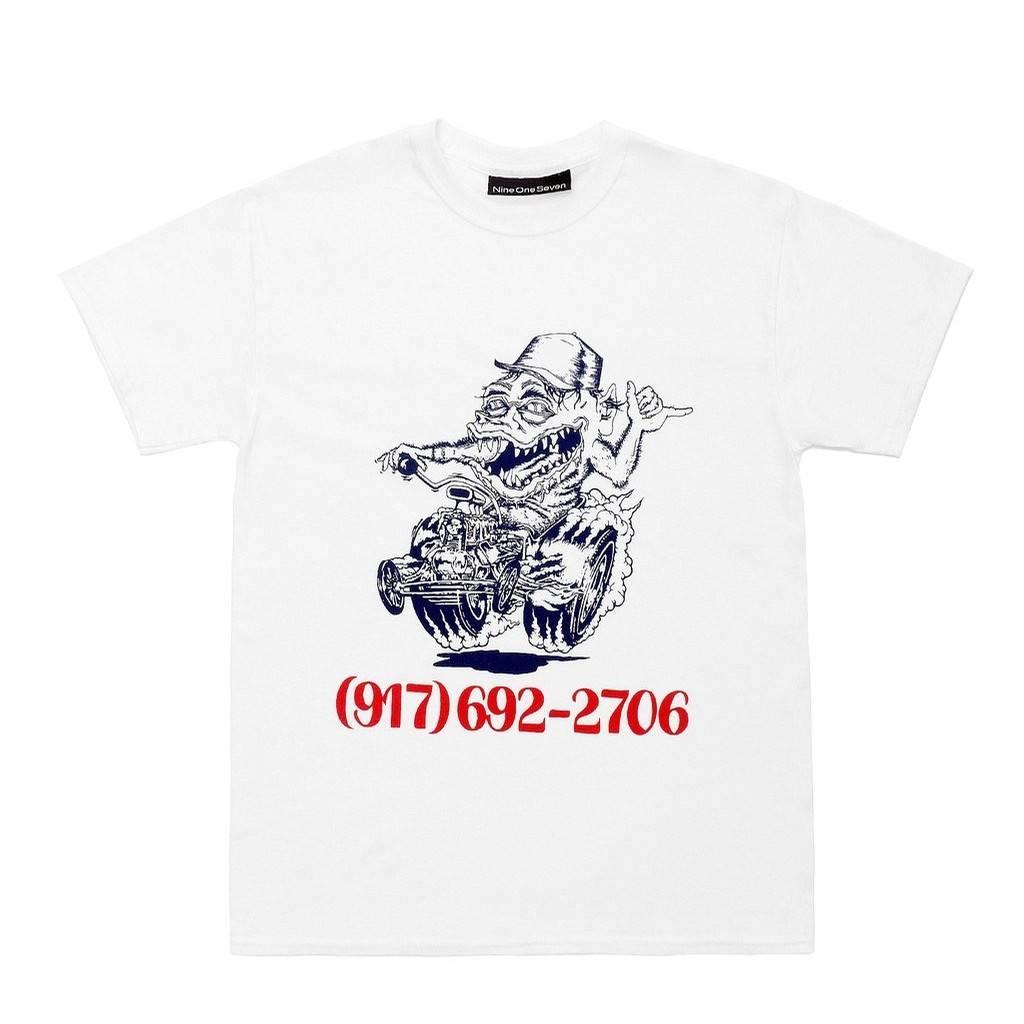 917 917 SKATE RAT TEE - WHITE