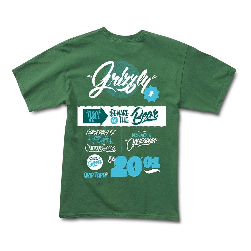 GRIZZLY GRIPTAPE GRIZZLY BODEGA TEE