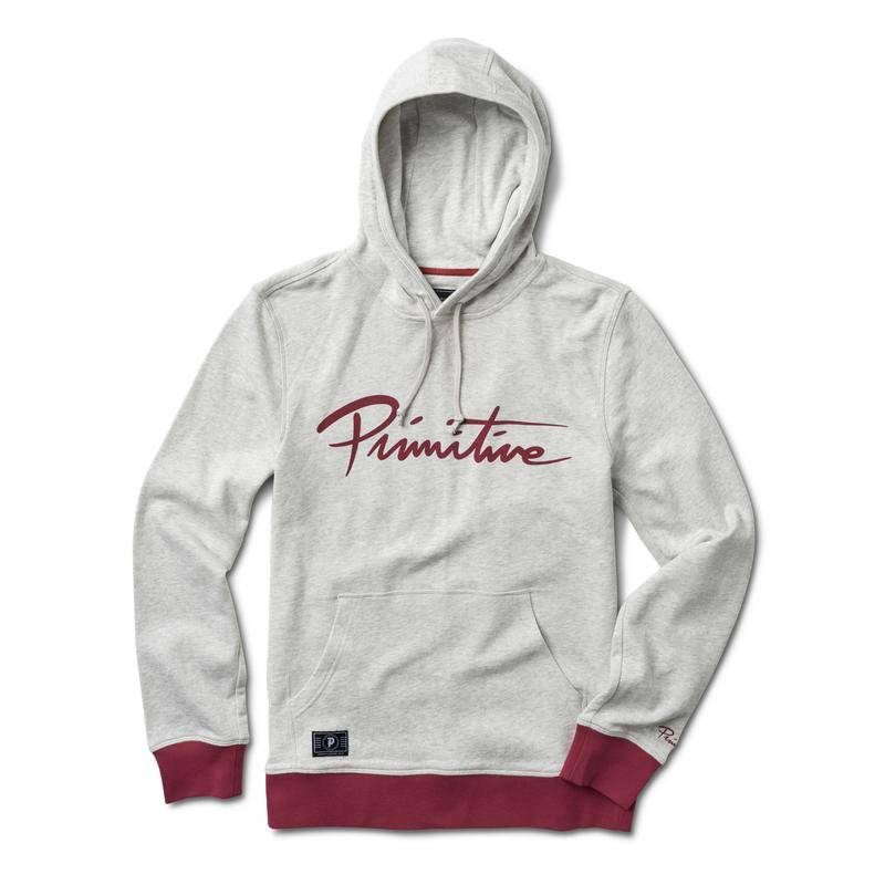 PRIMITIVE PRIMITIVE NUEVO CONTRAST HOODIE - ICE HEATHER