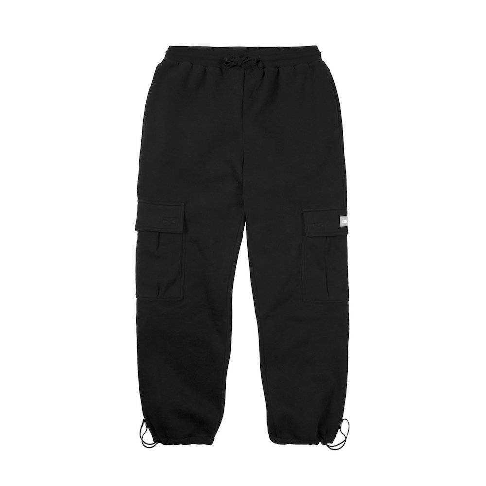 DIME DIME CARGO SWEATPANTS - BLACK