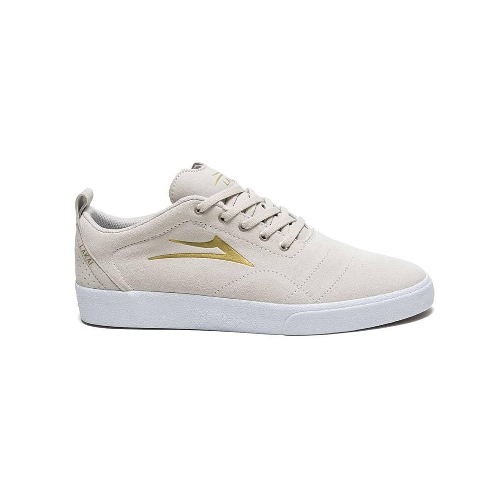 LAKAI FOOTWEAR LAKAI BRISTOL - WHITE/GOLD