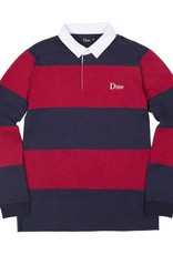DIME DIME STRIPED RUGBY - NAVY/RED