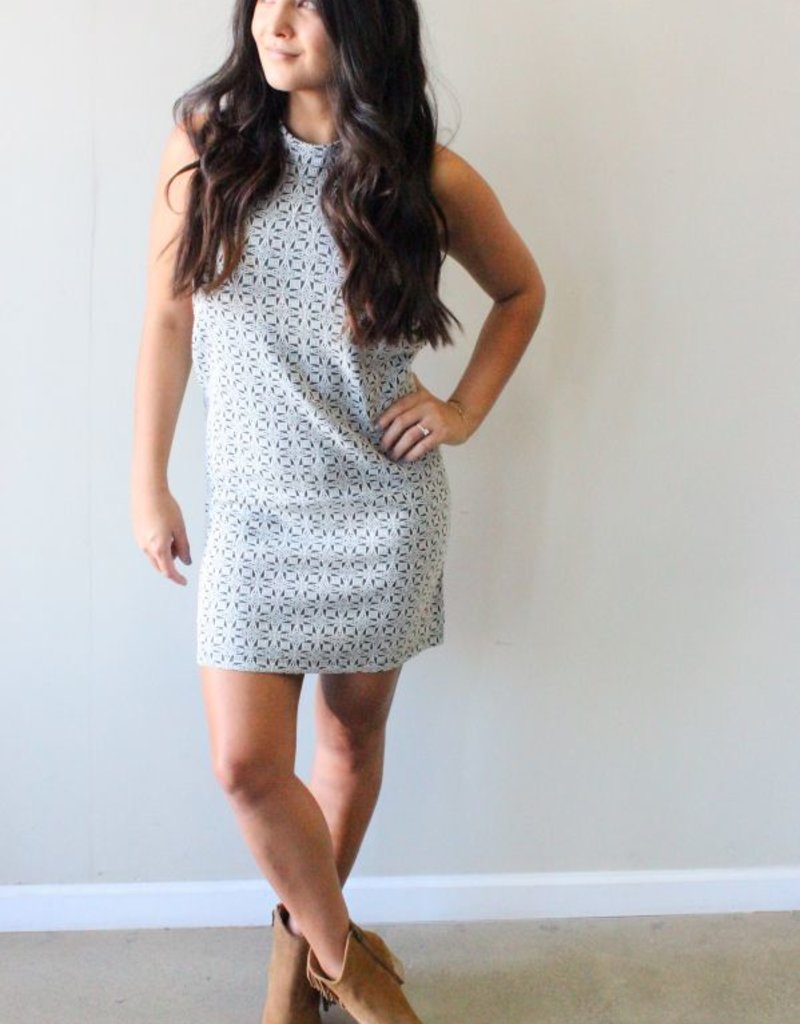 Lush Clothing Mod Woven Cutout Dress