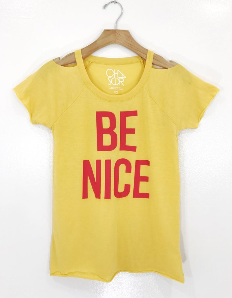 Chaser Brand Chaser Brand Cold Shoulder Be Nice Tee