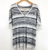 Chaser Brand Chaser Brand Fringed V Neck Sweater Dress
