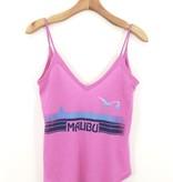 Chaser Brand Chaser Brand Malibu V Neck Scoop Back Shirttail Cami