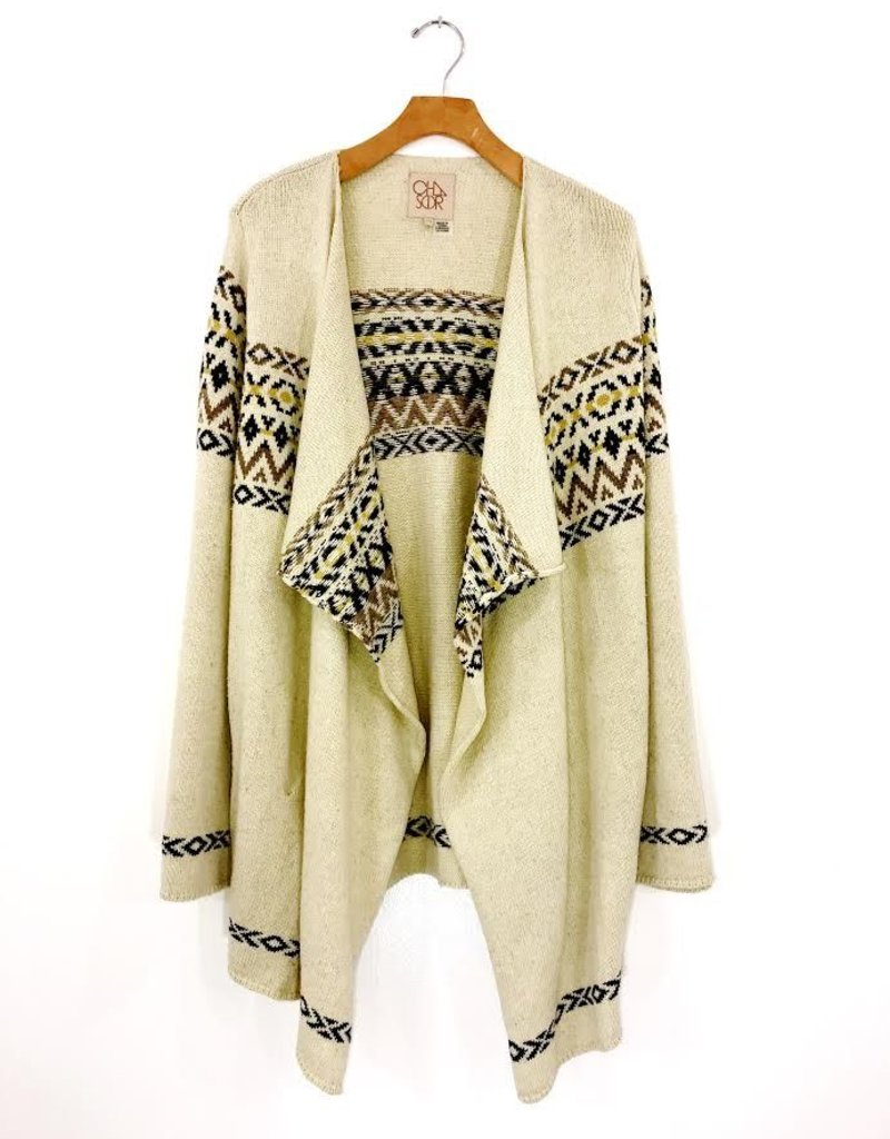 Chaser Brand Chaser Brand Vintage Drape Front Open Cardigan