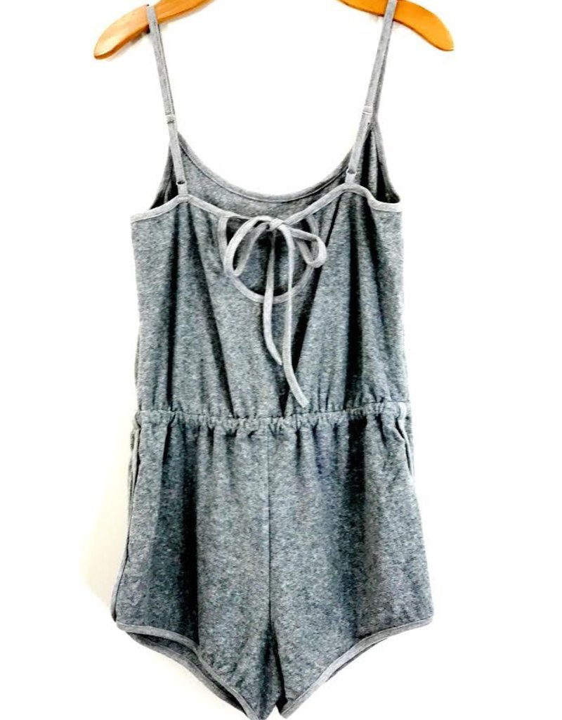 Honey Punch Honey Punch Knit Romper w/ Keyhole & Knot Back