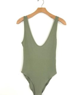 Audrey 3+1 Audrey 3+1 Ribbed Plunging Bodysuit