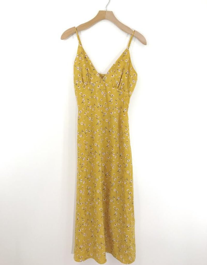 Audrey 3+1 Audrey 3+1 Pink Daisy Mustard Fields Midi Dress