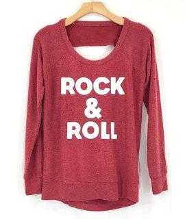 Chaser Brand Chaser Rock & Roll Drape Back Raglan Knit