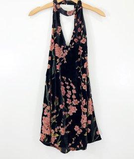 Lush Clothing Lush Burnout Velvet Swing Dress