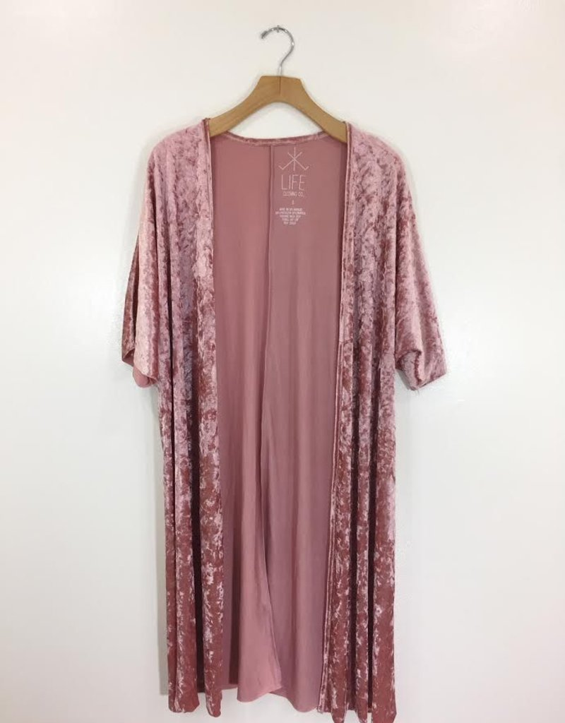 Life Clothing Co Life Clothing Co Crushed Velvet Kimono